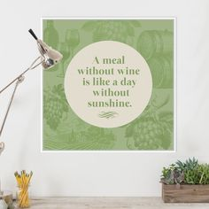 Modern Green Wine Vine Quotes Typography Poster Prints Hipster Kitchen Cafe Restaurant Canvas Paintings Home Wall Art Decor Gift