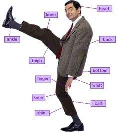 Mr Bean body parts for ESL! #1