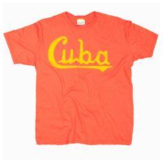 Men's Cuba Script T-Shirt, Vintage Cuba T-Shirt, Vintage Cuba Graphic T Shirt at PalmerCash.com - Awesome T-Shirts at Rumplo