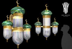 Mosque Interior Wall Lights - Decorative Lighting for Mosque designed and manufactured by KNY Design Austria www.kny-design.com Interior Wall Lights, Interior Walls, Light Decorations, Chandelier, Decorative Lighting, Ceiling Lights, Mosques, Austria, Design