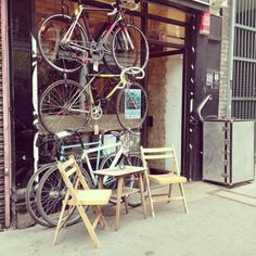 London Living: London's Top 5 Cycle Cafés Cycle Store, Round Round, Bicycle Maintenance, Ladder Decor, Ireland, Cycling, Bike, London, Board
