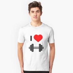 'Dumbbells Weight I love Training' T-Shirt by favorite-shirt Buy Dumbbells, Going To The Gym, Training, Mens Tops, T Shirt, Fashion, Supreme T Shirt, Moda, Tee Shirt