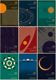 2009 Nasa vintage throwback posters
