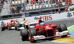 Fernando Alonso Wins In Valencia 2012