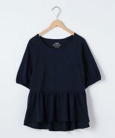 ●●スラブ裾フリルTシャツ