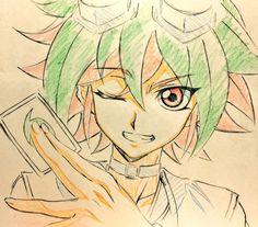 #Portrait de #YuyaSakaki par @vvkagerouvvr2 qui travaille sur #YuGiOh!ArcV #croquis #dessin #illustration #manga #anime