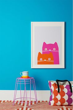 Feed for thought - cats poster - from GoodHomes Magazine, photo by Andrew Boyd www.alexfultondesign.com