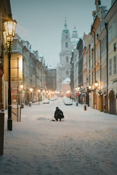 Winter in Prague, Czech Republic
