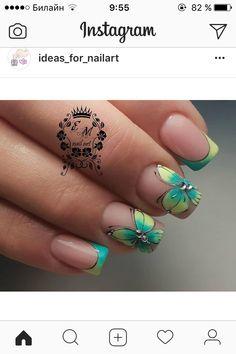 Pedicure Designs, Gel Designs, Nail Art Designs, Manicure, Shellac Nails, Hot Nails, Hair And Nails, Nail Art Techniques, Uñas Fashion