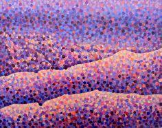 Deli Daria, Pedernal View, 8x10, Acrylic on Paper