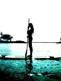 Stand Up Paddle boarding - an all over workout. Excited to try it this summer! #stability #fitcore #fitness