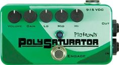 Pigtronix PolySaturator Distortion Effects Pedal Diy Hifi, Bass, Distortion Pedal, Audio, Channel, Circuit Design, Music Store, Guitar Pedals, Sound Design