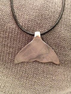 Silver Spoon Whale Tail Necklace by TwiceTreasuredDesign on Etsy, $35.00