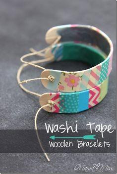 Washi tape wooden bracelets crafts diy crafts crafts for teens to make crafts for kids spring crafts crafts for adults crafts to sell easy crafts dollar store crafts easy crafts crafts for adults Washi Tape Crafts, Craft Stick Crafts, Fun Crafts, Craft Ideas, Craft Sticks, Kids Popsicle Stick Crafts, Wood Sticks, Preschool Crafts, Diy And Crafts