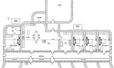 I love this layout for an earthship house! Floor plan of zero energy use earthbag house The Plan, How To Plan, Natural Building, Green Building, Earthship Home Plans, Earthship Design, Earthship Biotecture, Earth Bag Homes, Townhouse