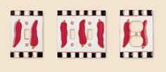 Chili Pepper Pulls & Switch Plate Covers