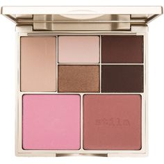 Stila Perfect Me Perfect Hue Eye Cheek Palette ($39) ❤ liked on Polyvore featuring beauty products, makeup, stila cosmetics, palette makeup, stila makeup and stila