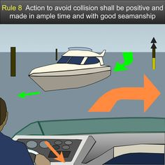 Action to avoid collision - Any action taken to avoid collision shall be taken in accordance with the Rules of this subpart (Rules 4-19) (§§ 83.04 through 83.19) and shall if the circumstances of the case admit, be positive, made in ample time and with due regard to the observance of good seamanship US Inland Navigation Rules #safeskipper #boating #sailing #yacht #motorboat #apps