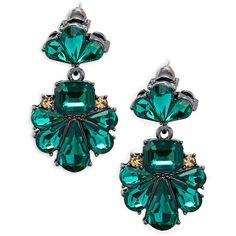 Saks Fifth Avenue Women's Floral Formed Crystal Dangle Drop Earrings (205 NOK) ❤ liked on Polyvore featuring jewelry, earrings, no color, dangle post earrings, crystal dangle earrings, post earrings, drop dangle earrings and dangling jewelry