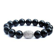 ELIZABETH - black onyx CZ pave nugget bracelet | © VELINA