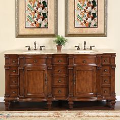 Bathroom Vanities Two Sinks newport 72-inch double sink bathroom vanity with mirror – still
