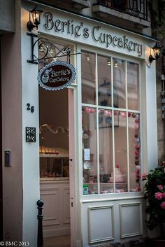 BertiesCupCakery- Rue Chanoinesse Paris.....My mother's name was Bertie and now I have a French bistro and Patisserie that sells cupcakes.  Funny!