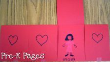 "Valentine's Day activity.  Can work on expanding functional language: ""I love my mommy""."