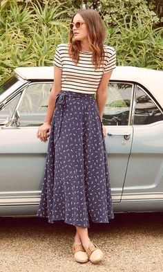Modest Outfits, Modest Fashion, Summer Outfits, Cute Outfits, Fashion Outfits, Womens Fashion, Fashion Trends, Fast Fashion, Long Skirt Outfits