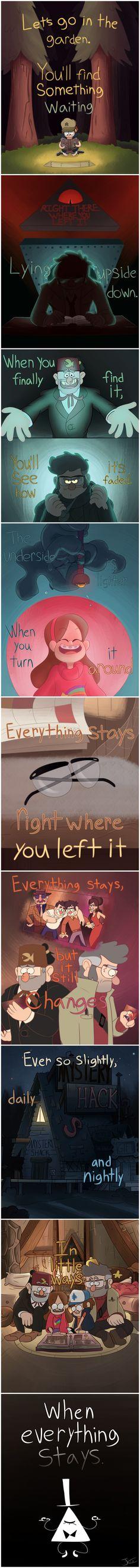 """Gravity Falls - Everything Stays <a class=""""pintag"""" href=""""/explore/lyrics/"""" title=""""#lyrics explore Pinterest"""">#lyrics</a>"""