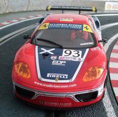 #Ferrari 360 GTC de #Scalextric. Otro de mis campeones.