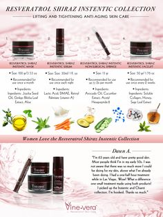 Vine Vera Shiraz Instentic Collection #skincare #antiaging