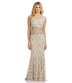 Tadashi Cord-Lace Gown | Dillards.com Ordered and returned. Gorgeous but blends with the sand.