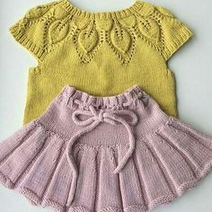 "[ ""baby vest knit baby dress knitted baby dress by KnittingAndYarns"", ""Baby vest (which I [ ""baby vest knit baby dress knitted baby dress by KnittingAndYarns"", ""Baby vest (which I Baby Cardigan Knitting Pattern Free, Baby Knitting Patterns, Knitting Dolls Clothes, Doll Clothes, Crochet Baby, Knit Crochet, Knit Mittens, Knitting For Kids, Pulls"