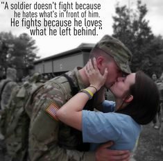 If you can't stand behind a soldier, most certainly stand in front of them.