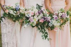 English Garden styled bouquets by Green and Bloom for Aimee and Lukes Toowoomba Gabbinbar Homestead Wedding, captured by Jess Jackson Photography.