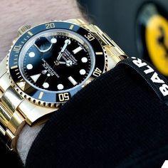 Rolex Gold Submariner 116718. . . #rolex #wristporn #rolexwatch #dailywatch #watchesofinstagram #rolexpassion #rolexporn #rolexero #rolexforum #mondani #hodinkee #watchoftheday #watchanish #watchfam #watchuseek #dailywatch #wristporn #wristgame #ferrari credit @balr