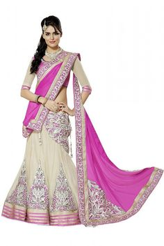 Net Party Wear Lehenga Choli in Off White Colour Be the center of attention at any event by wearing this eye catching lehenga set. Offwhite color Net fabric Lehenga comes with attractive Embroidery Pa...