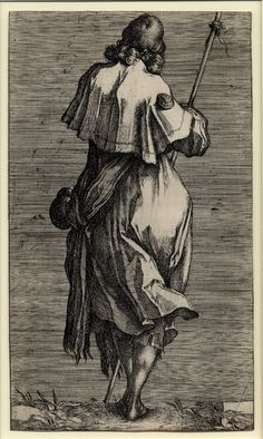 James the Greater by Jacques Bellange, etching (ca. 1612-1616).