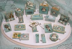 Ladys TOSCA historic box OOAK Dollhouse scale door Scarletts45