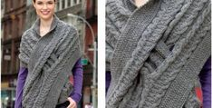 stylish comfy knitted wrap | the knitting space