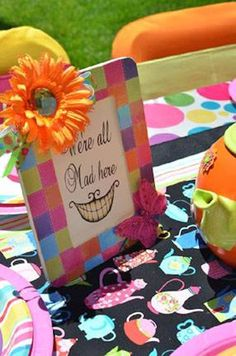 Alice in Wonderland + Mad Hatter themed birthday party via Kara's Party Ideas KarasPartyIdeas.com Printables, cake, decor, recipes, tutorials, supplies, etc! #aliceinwonderland #madhatter #aliceinwonderlandparty #aliceinwonderlandteaparty #madhatterparty (17)