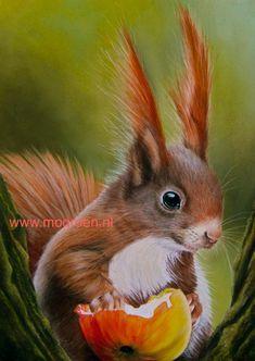 TEKENINGEN VAN MENS EN DIER Graphite Drawings, Squirrel, Pastel, Animals, Art, Blogging, Kunst, Art Background, Cake