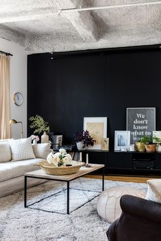 texture, statement wall, neutrals in the living room