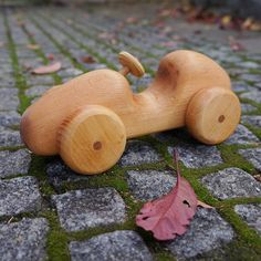 This toy is made for children from 1 year. A child can roll a car around his room It is a great pleasure for kids. The toy is safe, because wood and linseed oil is safe for health. Each toy is hand-cut, hand-polished and so each toy is unique. If you take this toy in your hands , you dont want to return It is an ideal gift for a child This toy smell of the forest and is a wonderful addition to any play room. 100% Natural wood,  Dimensions  length- 22 sm (8,7 inches)  height -10 sm (4 inches)…