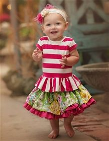 Baby by Persnickety Clothing - Daffodils & Dandelions Lily Skirt in Multi