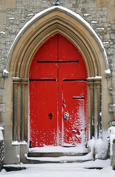 Side door entrance to St. George's Church in Beckenham, Greater London • photo: Nick J Webb on Flickr