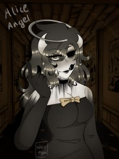 Alice Angel, Just Ink, Bendy And The Ink Machine, The Darkest, Horror, Creatures, Animation, Fan Art, Fez