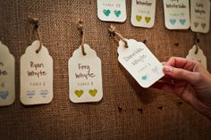 Real wedding by Divine Weddings & Events - Danielle and Jon - rustic escort tags   Photo by Sugar and Soul Photography