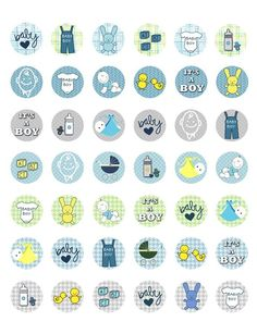 Baby Shower It's A Boy Baby Boy Printable Bottle Cap Images 42 Designs | eBay