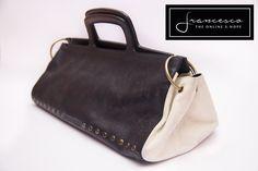 Prada Black and White leater doctor bag